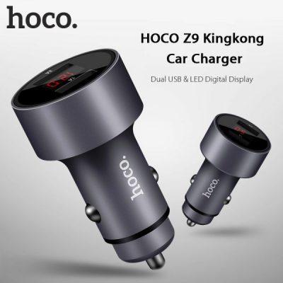 Автомобильное зарядное устройство HOCO Z9 KINGKONG DIGITAL DISPLAY 2.1A 2USB