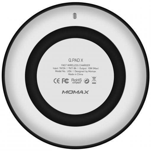 Беспроводное зарядное устройство Momax Q.Pad X Fast Wireless Charger Black-4