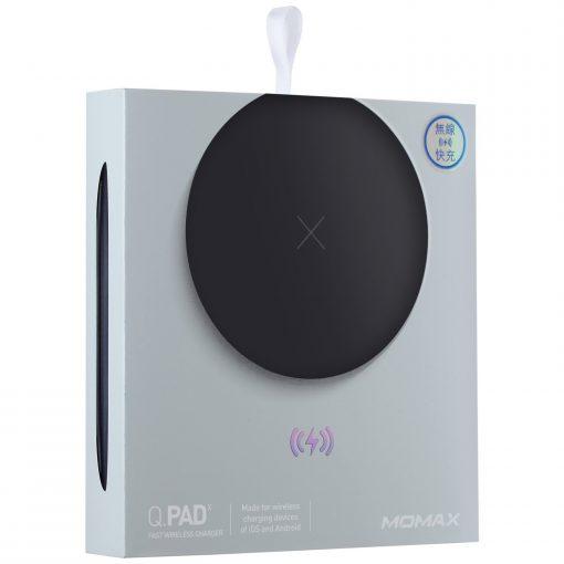 Беспроводное зарядное устройство Momax Q.Pad X Fast Wireless Charger Black-6