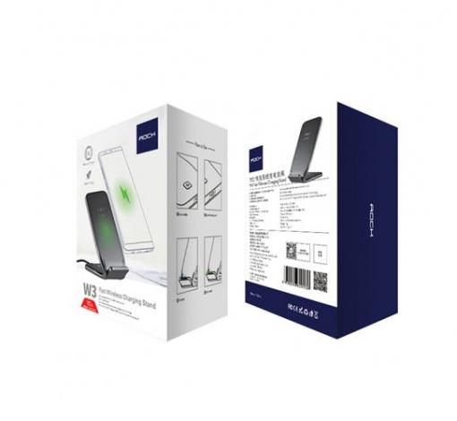 Беспроводное зарядное устройство + подставка Rock Space W3 Wireless Charger-3