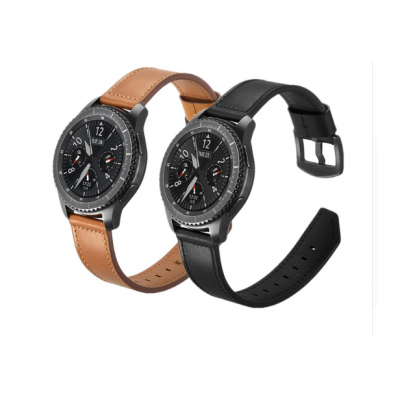 Ремешок Luxury Genuine Leather для Galaxy Watch 3 45mm