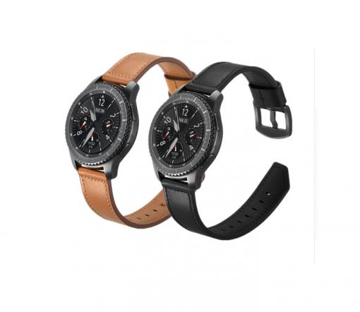 Ремешок Luxury Genuine Leather для Garmin Forerunner 745