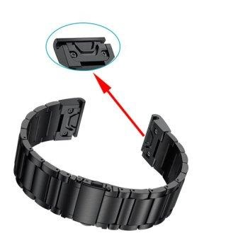 Ремешок металлический для Garmin Fenix 5x PLUS QuickFit-2