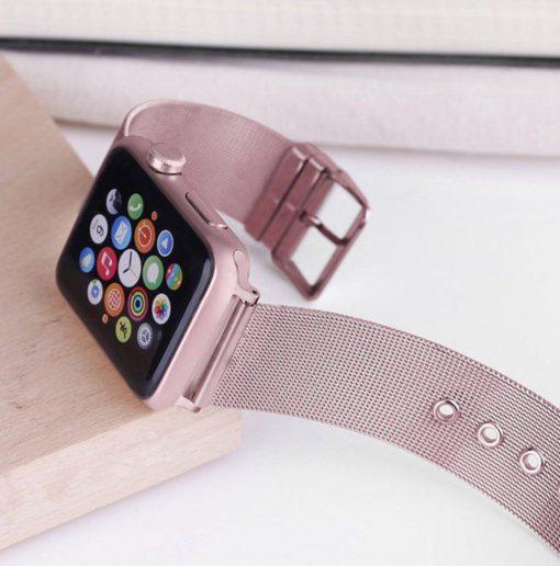 Ремешок Milanese Loop для Apple Watch Series 1/2/3/4 с классической застежкой-6