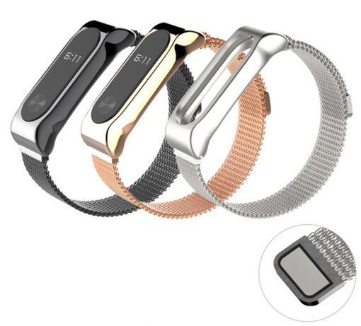 Ремешок Milanese Loop магнитная застежка для Xiaomi Mi Band 2