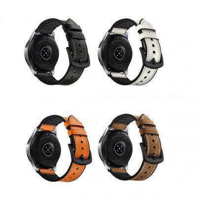 Ремешок Silicon Leather для Samsung Galaxy Watch 4 Classic 46mm