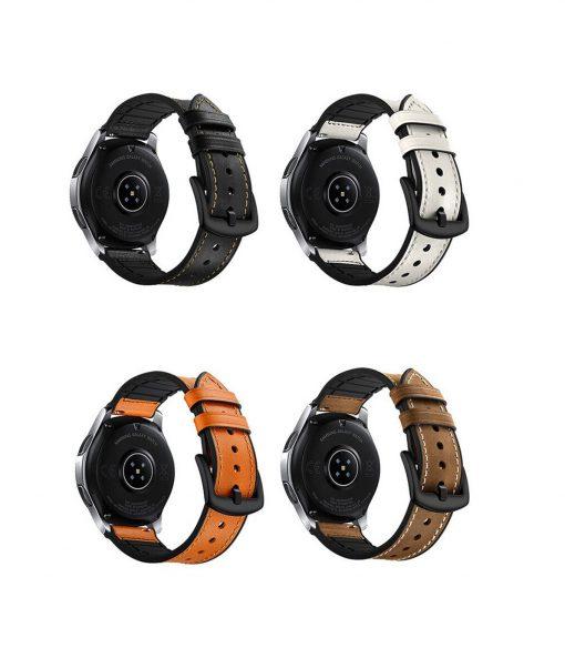 Ремешок Silicon Leather для Samsung Galaxy Watch 46mm