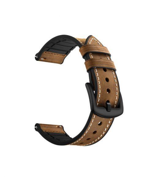 Ремешок Silicon Leather для Xiaomi Amazfit Smart Sports Watch 3-2