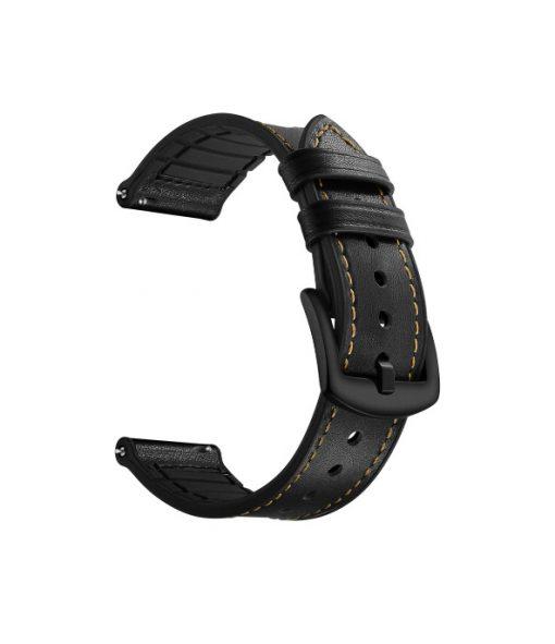 Ремешок Silicon Leather для Xiaomi Amazfit Stratos 2-3