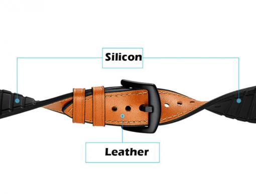Ремешок Silicon Leather для Xiaomi Amazfit Stratos 2-5