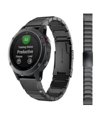 Ремешок стальной Metal Block для Garmin Fenix 5x PLUS QuickFit-2
